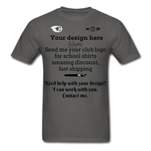 Load image into Gallery viewer, School Club Shirt, Unisex Classic T-Shirt - charcoal