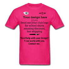 Load image into Gallery viewer, School Club Shirt, Unisex Classic T-Shirt - fuchsia