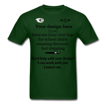 Load image into Gallery viewer, School Club Shirt, Unisex Classic T-Shirt - forest green