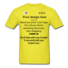 Load image into Gallery viewer, School Club Shirt, Unisex Classic T-Shirt - yellow