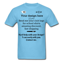 Load image into Gallery viewer, School Club Shirt, Unisex Classic T-Shirt - aquatic blue