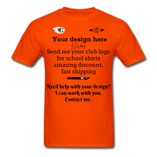 Load image into Gallery viewer, School Club Shirt, Unisex Classic T-Shirt - orange