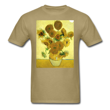 Load image into Gallery viewer, Sunflowers - Unisex Classic T-Shirt - khaki