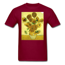 Load image into Gallery viewer, Sunflowers - Unisex Classic T-Shirt - burgundy