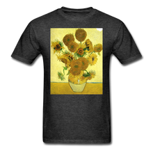 Load image into Gallery viewer, Sunflowers - Unisex Classic T-Shirt - heather black