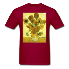 Load image into Gallery viewer, Sunflowers - Unisex Classic T-Shirt - dark red