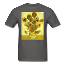 Load image into Gallery viewer, Sunflowers - Unisex Classic T-Shirt - charcoal