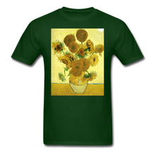 Load image into Gallery viewer, Sunflowers - Unisex Classic T-Shirt - forest green