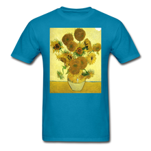 Load image into Gallery viewer, Sunflowers - Unisex Classic T-Shirt - turquoise