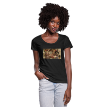 Load image into Gallery viewer, Attitude in a Parade - Women's Scoop Neck T-Shirt - black