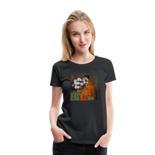 Load image into Gallery viewer, Peonies - Women's Premium T-Shirt - black