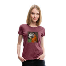 Load image into Gallery viewer, Peonies - Women's Premium T-Shirt - heather burgundy