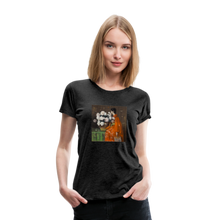 Load image into Gallery viewer, Peonies - Women's Premium T-Shirt - charcoal gray