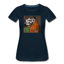 Load image into Gallery viewer, Peonies - Women's Premium T-Shirt - deep navy