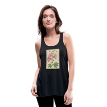Load image into Gallery viewer, Hollyhocks Women's Flowy Tank Top by Bella - black
