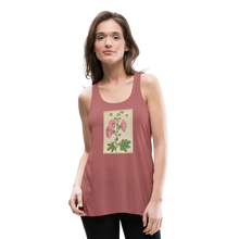 Load image into Gallery viewer, Hollyhocks Women's Flowy Tank Top by Bella - mauve