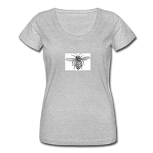 Load image into Gallery viewer, Bee Undercarriage Women's Scoop Neck T-Shirt - heather gray