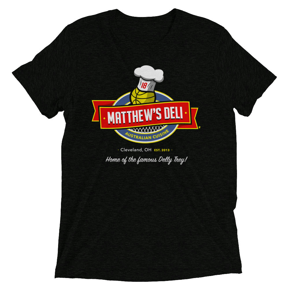 Matthew's Deli - Charcoal Black Tri-blend