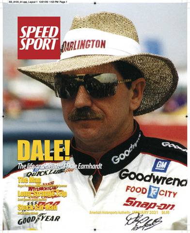 SPEED SPORT Magazine January 2021 Cover Art Poster featuring Dale Earnhardt