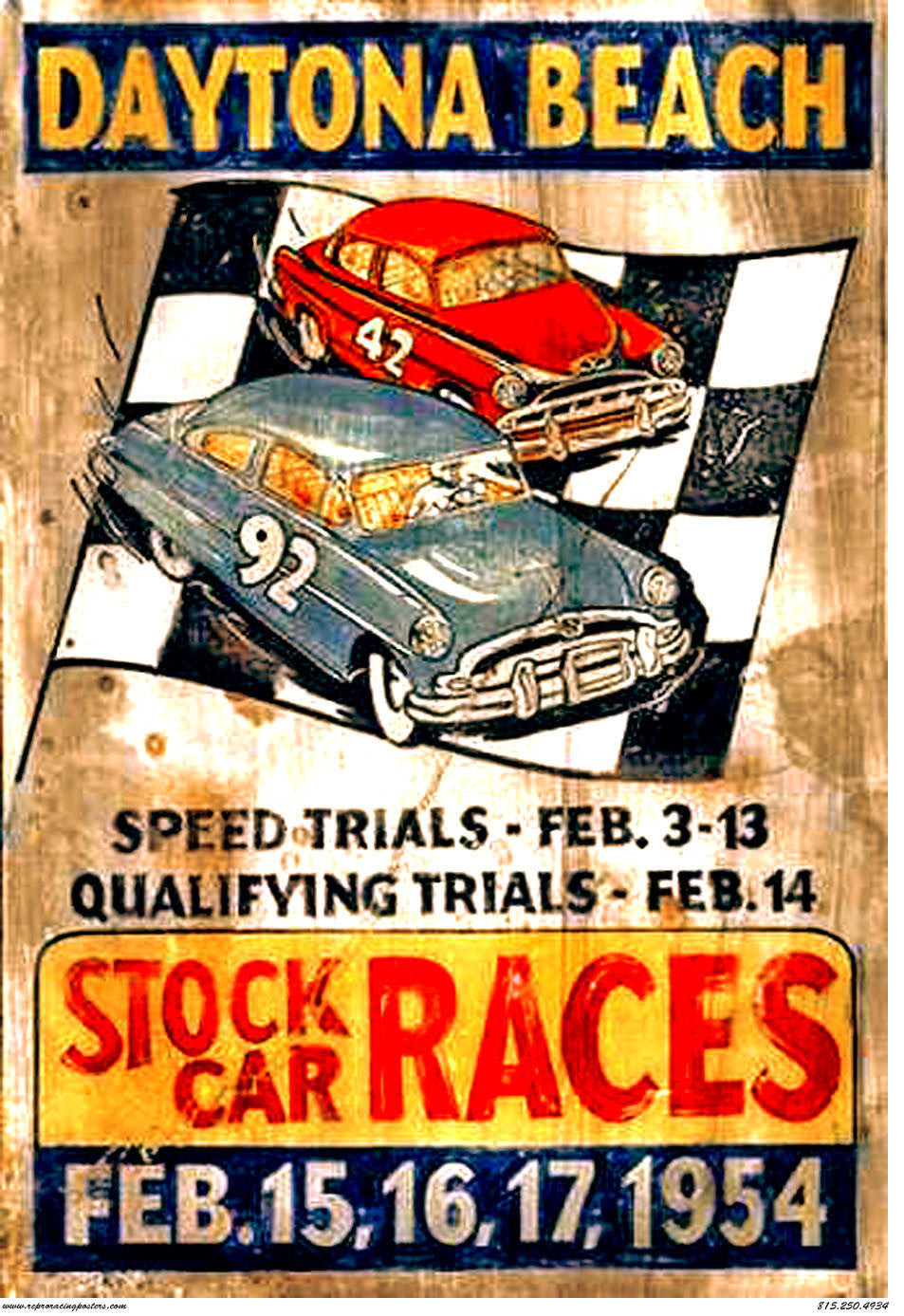 Daytona Beach Stock Car Races- 1954