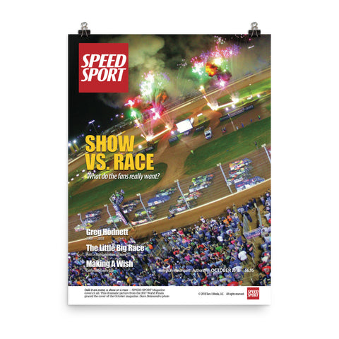SPEED SPORT Magazine October 2018 Cover Art Poster featuring Show vs. Race