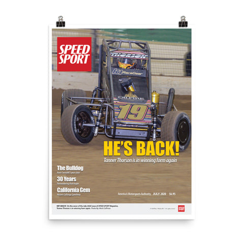 SPEED SPORT Magazine Cover Poster - July 2020 featuring Tanner Thorson.
