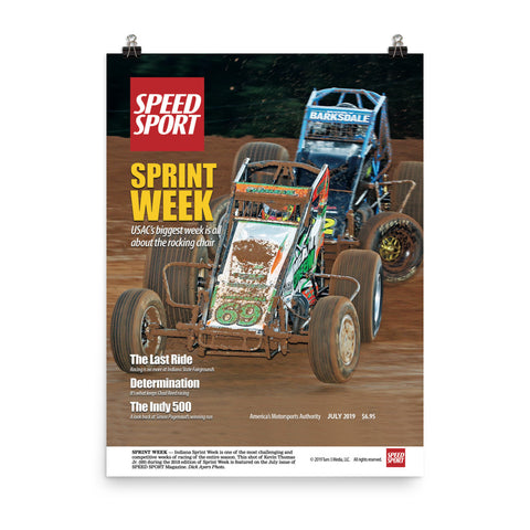 SPEED SPORT Magazine July 2019 Cover Art Poster featuring SPRINT WEEK-Kevin Thomas Jr.
