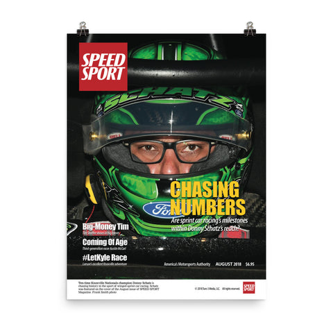 SPEED SPORT Magazine August 2018 Cover Art Poster featuring Donny Schatz