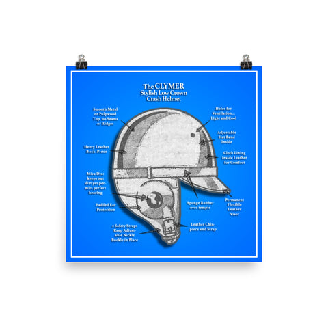 "The Clymer Helmet - 18"" x 18"" print - From the SPEED SPORT Vault Collection"