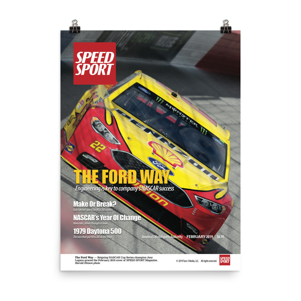 SPEED SPORT Magazine February 2019 Cover Art Poster featuring Joey Logano