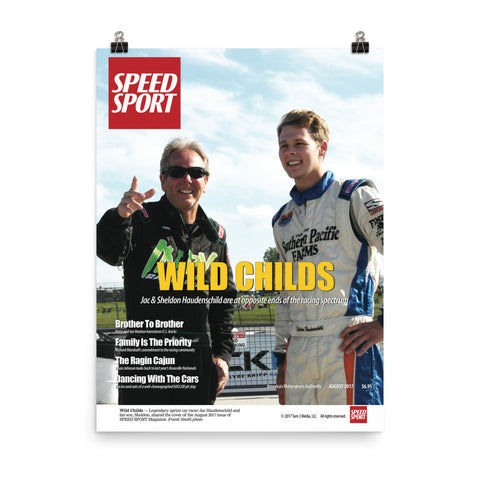 SPEED SPORT Magazine Sept. 2017 Cover Art Poster featuring Jac & Sheldon Haudenschild