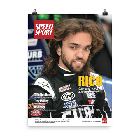 SPEED SPORT Magazine June 2019 Cover Art Poster featuring Rico Abreu