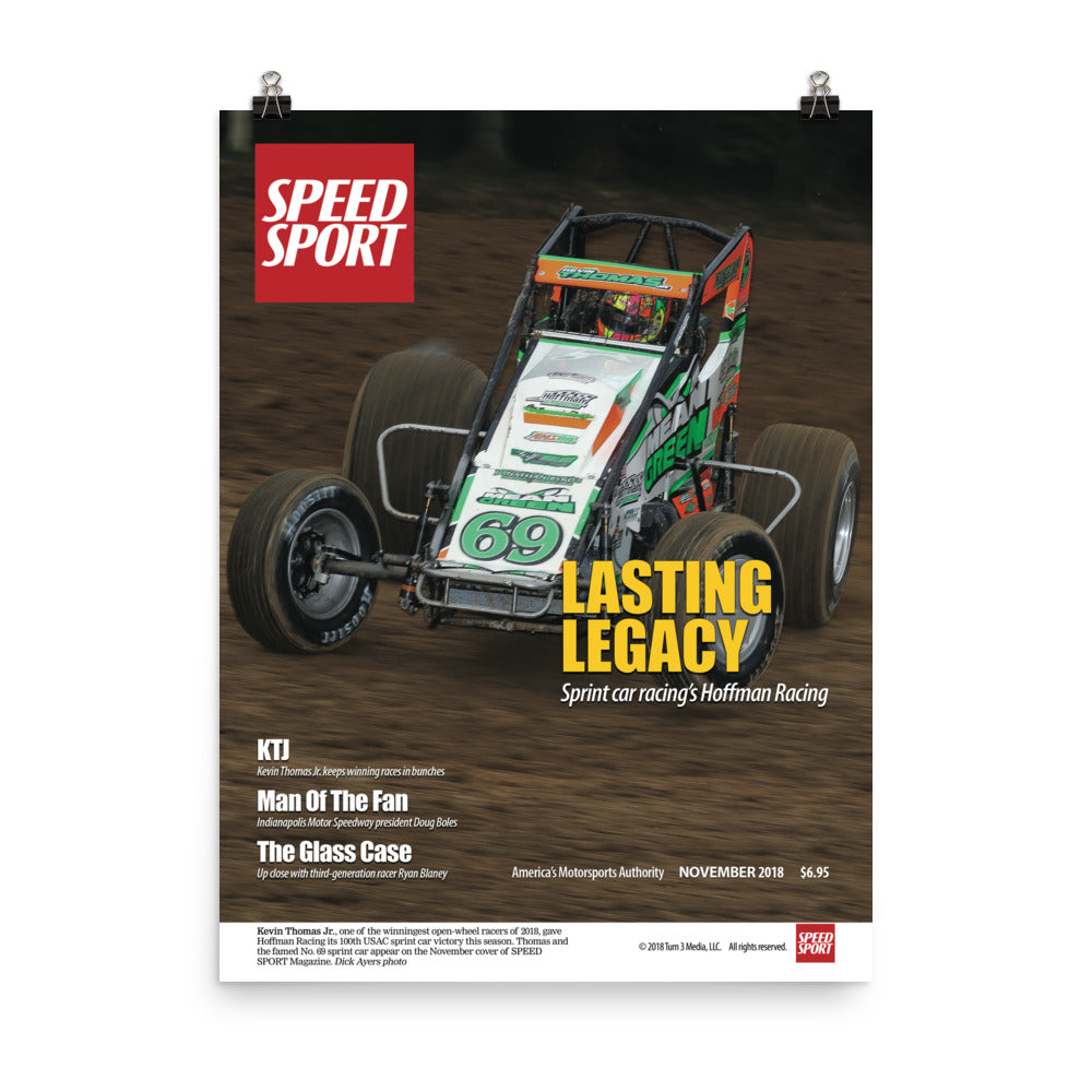 SPEED SPORT Magazine November 2018 Cover Art Poster Kevin Thomas Jr.