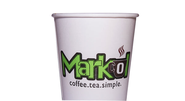 10oz White MARKCOL Cups (50 per sleeve)