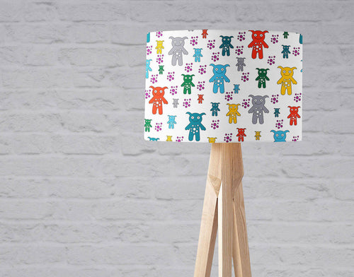White with Colourful Cute Monsters Lampshade, Ceiling or Table Lamp Shade - Shadow bright