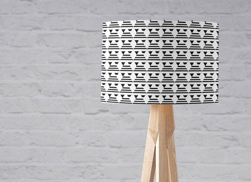 Black and White Art Deco Inspired Lampshade, Ceiling or Table Lamp Shade - Shadow bright