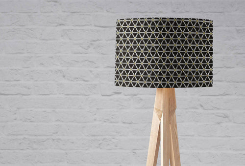 Black and Gold Geometric Design Lampshade, Ceiling or Table Lamp - Shadow bright