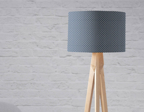 Navy Blue Lampshade with a Geometric Design, Ceiling or Table Lamp Shade - Shadow bright