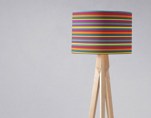 Rainbow Striped Lampshade, Ceiling or Table Lamp Shade - Shadow bright