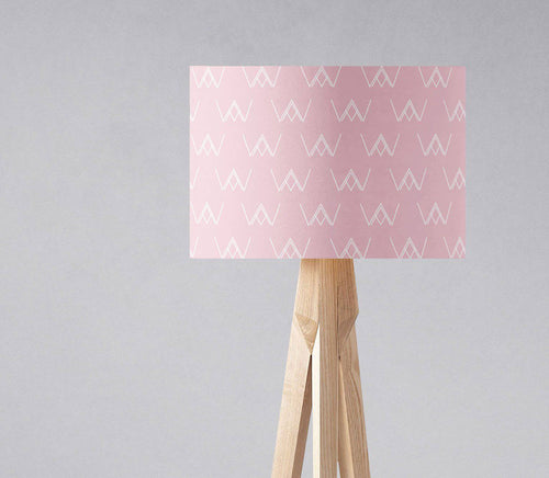 Pink Lampshade with White Abstract Design, Ceiling or Table Lamp Shade - Shadow bright