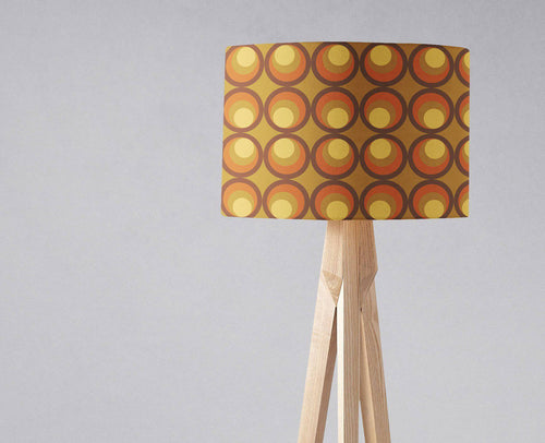 Brown and Orange Retro 1970's Design Lampshade, Ceiling or Table Lamp Shade - Shadow bright