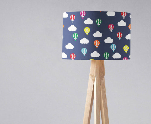 Dark Blue Hot Air Balloon Lampshade, Ceiling or Table Lamp Shade - Shadow bright