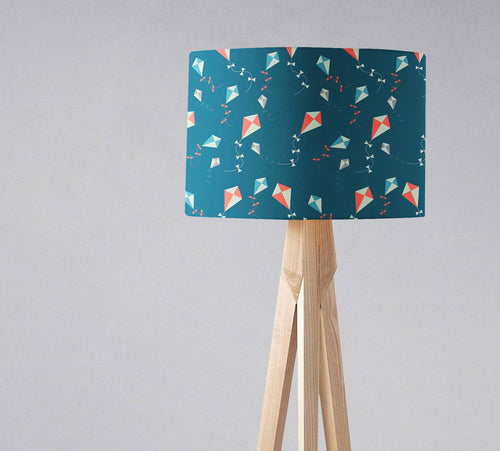 Blue Lampshade with Kite Design, Ceiling or Table Lamp Shade - Shadow bright