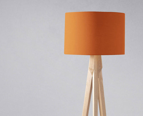 Plain Burnt Orange Lampshade, Ceiling or Table Lamp Shade - Shadow bright