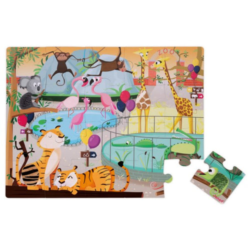 Janod Tactile Zoo Jigsaw Puzzle
