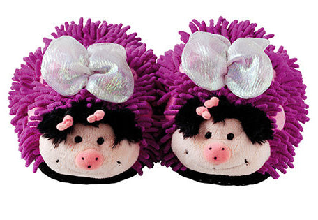 Aroma Home Fuzzy Friends Slippers ~ Butterfly