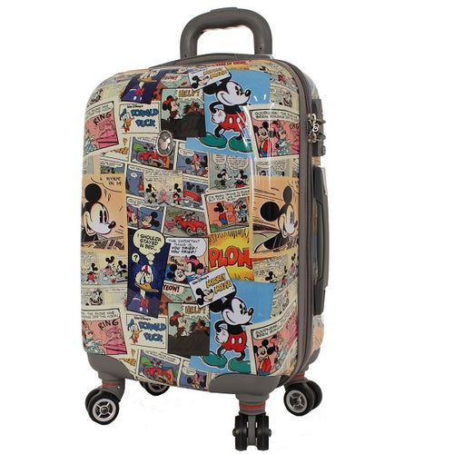 Disney Comic Strip Hard Shell 19 Inch Suitcase