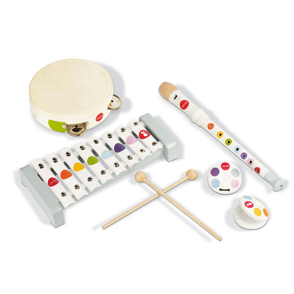 Janod Confetti Wooden Musical Instrument Set
