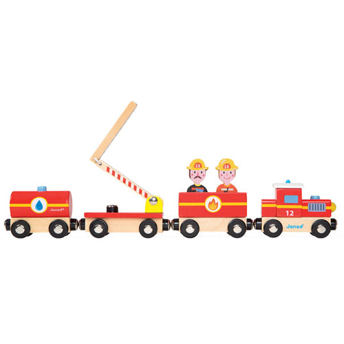 Janod Firefighter Wooden Train