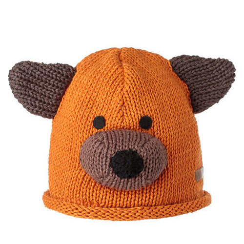 Knitwits Toddler Bear Cotton Beanie